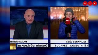 Tüntetés aktuális helyzete [21:30] - Szél Bernadett ad interjút az ATV-nek