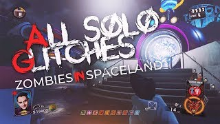 ALL SOLO STILL WORKING GLITCHES ON ZOMBIES IN SPACELAND (Call Of Duty: Infinite Warfare Glitches)