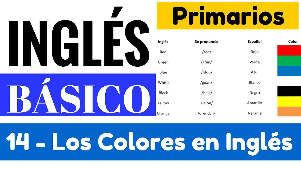 Los Colores Más Importantes Y Su Pronunciación En Inglés Yes En Inglés 1 Video 14 Youtube