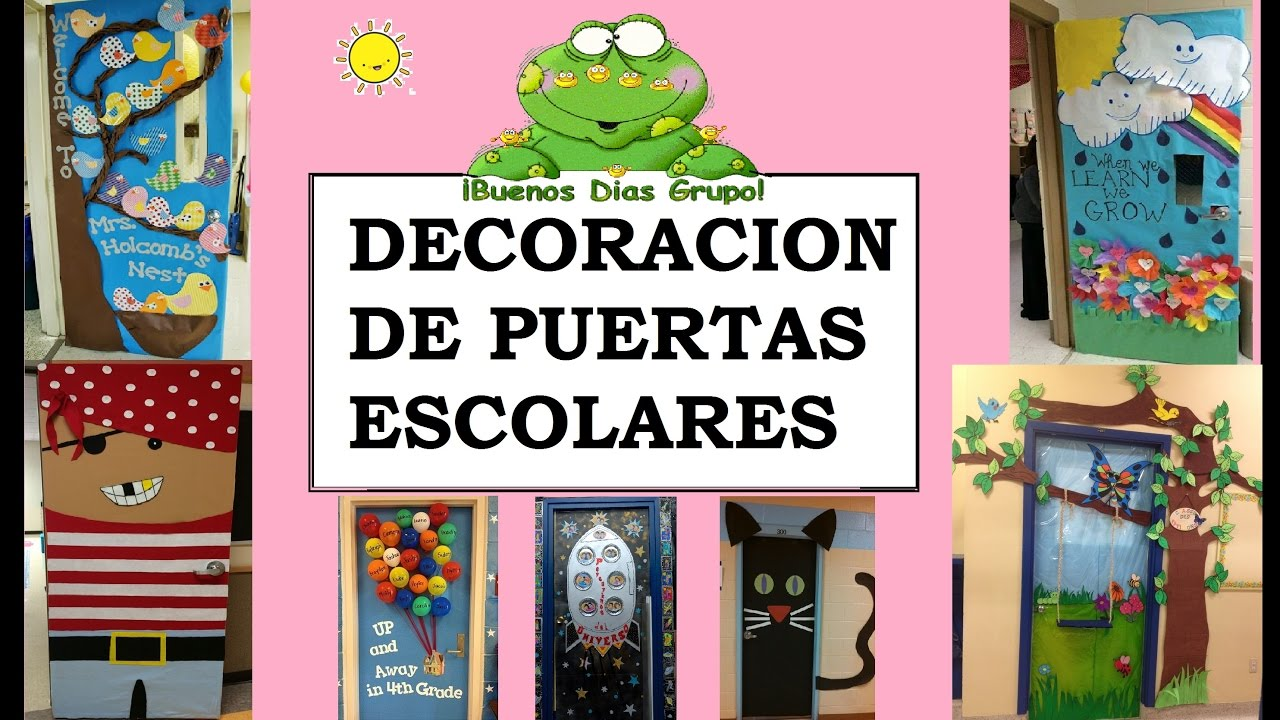 Ideas para decorar puertas 110 ideas youtube for Puertas decoradas para salon de clases