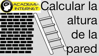 Aplicación Teorema de Pitágoras, escalera apoyada en una pared