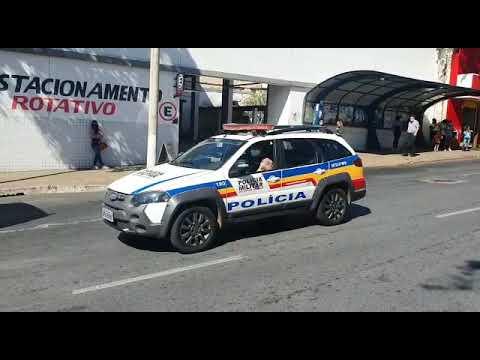 Polícia Militar orienta a população a ficar em casa em Araxá