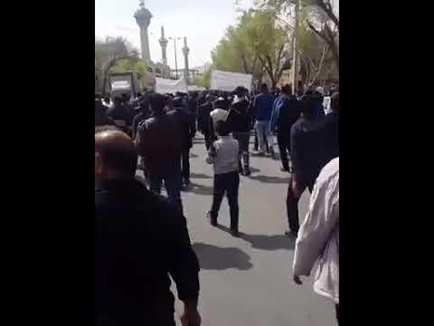 """Iran, Les agriculteurs d'Ispahan : """"Rohani, menteur, où est passé notre (rivière)"""