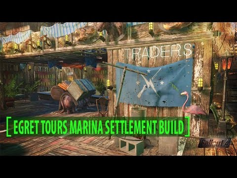 Fallout 4 Egret Tours Marina Settlement Build