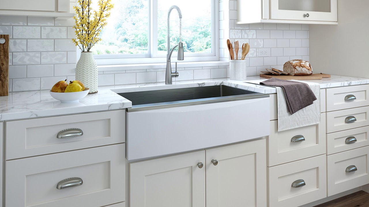Elkay Stainless Steel Farmhouse Sink with Interchangeable Apron