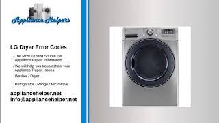 LG Dryer Error Codes