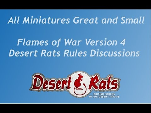 Flames of War Version 4 - Desert Rats overview and discussion