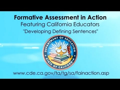 Developing Defining Sentences (CA Dept of Education)