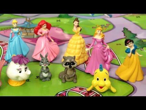 2013- Disney Pretty Princess -12 Figurines/ Playmate map / Storybook - My busy books
