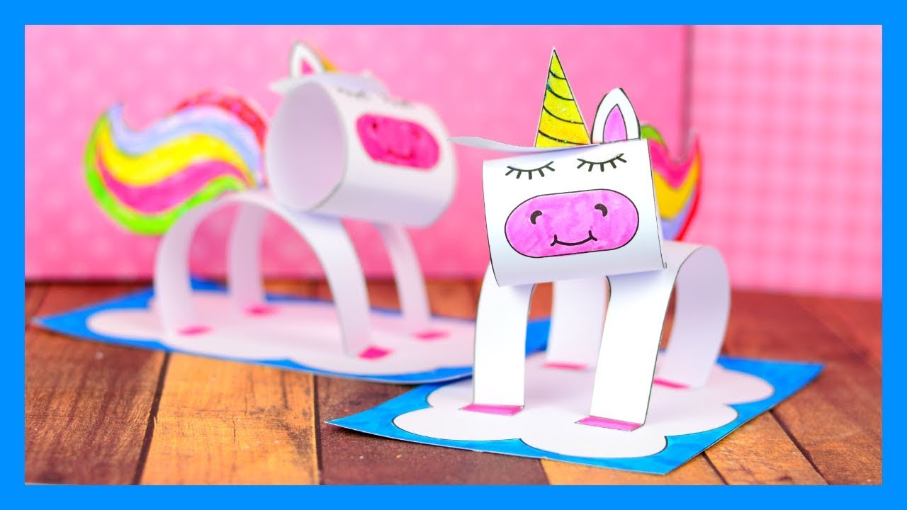3d Unicorn Craft Fun Paper Craft Idea For Kids Youtube