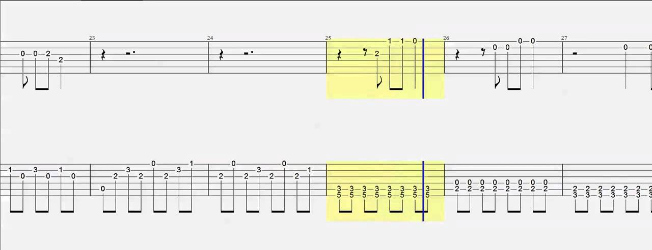 Guitar Tab Titanium Duet Chords Slow Version - YouTube