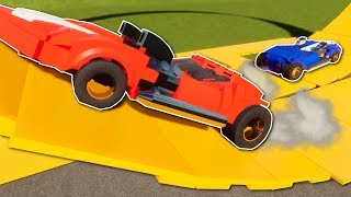 HOT WHEELS TWIN MILL RACE! - Brick Rigs Multiplayer Gameplay - Lego Hot Wheels Racing