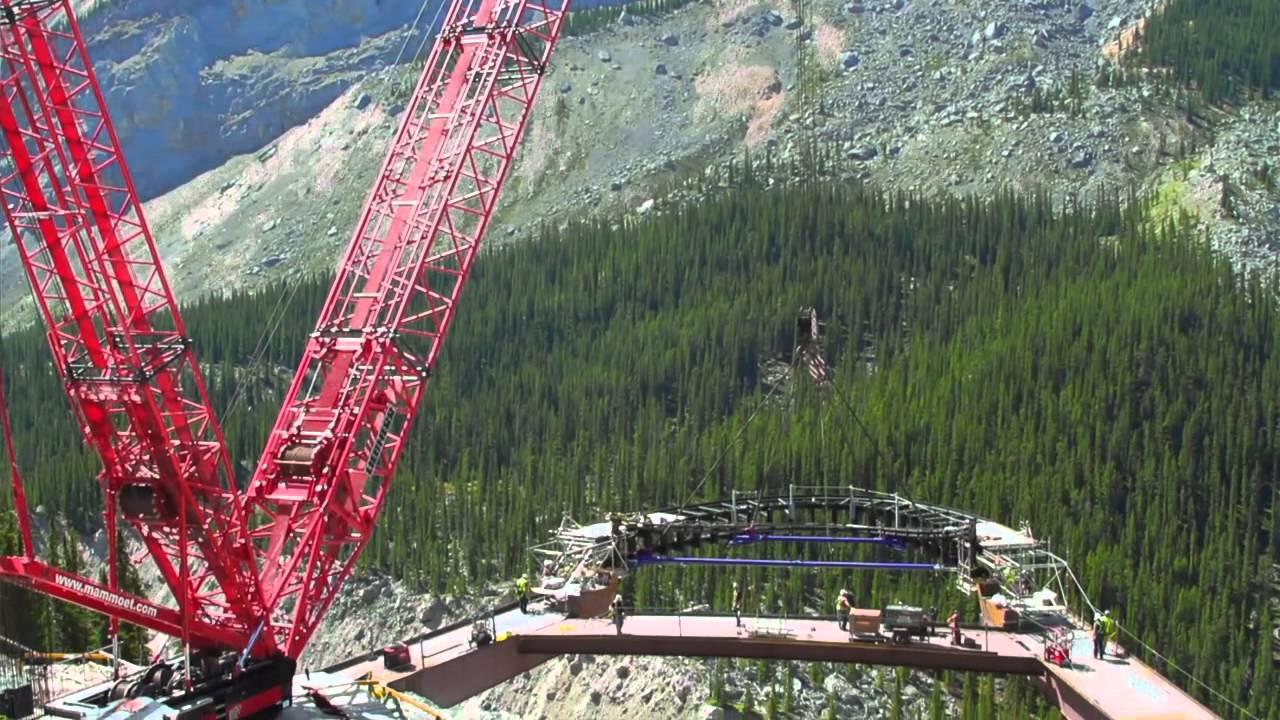 Glacier Skywalk Construction - July 26, 2013