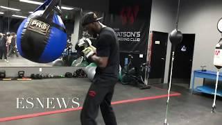 Deontay Wilder Lands Monster Shot On Bag Ready To KO Ortiz - EsNews boxing