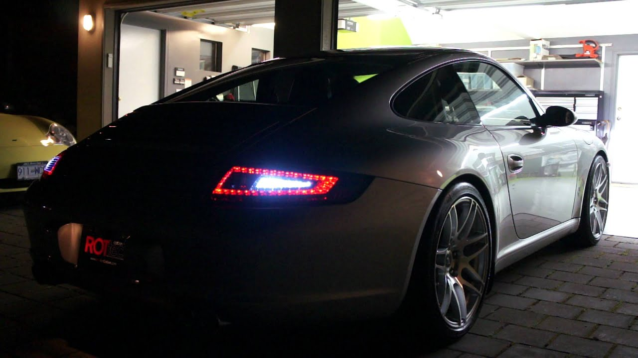 Tv Verlichting Porsche 997.1 Led Tail Light - Rottec - Youtube