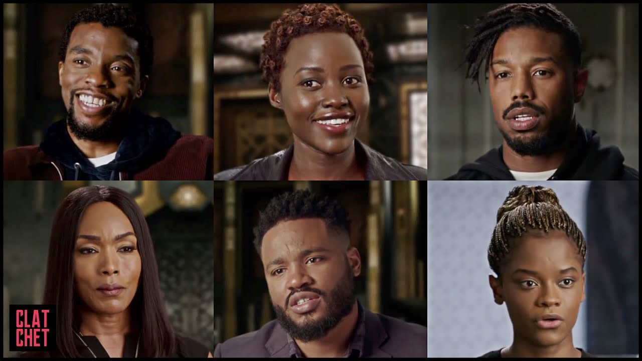black panther cast interview 2018