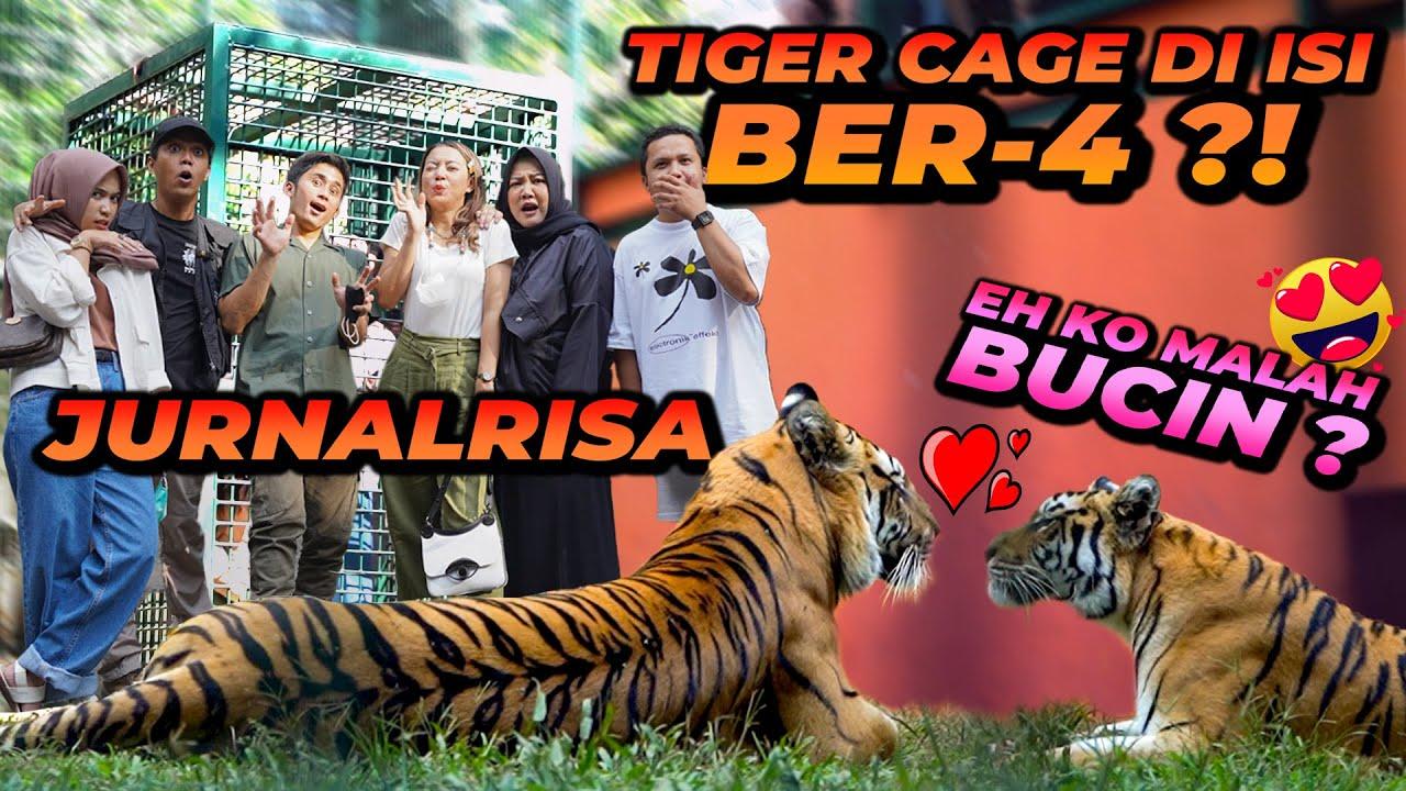 TIM JURNALRISA MASUK TIGER CAGE BER 4 ?! LEBIH SEREM HANTU ATAU HARIMAU ?