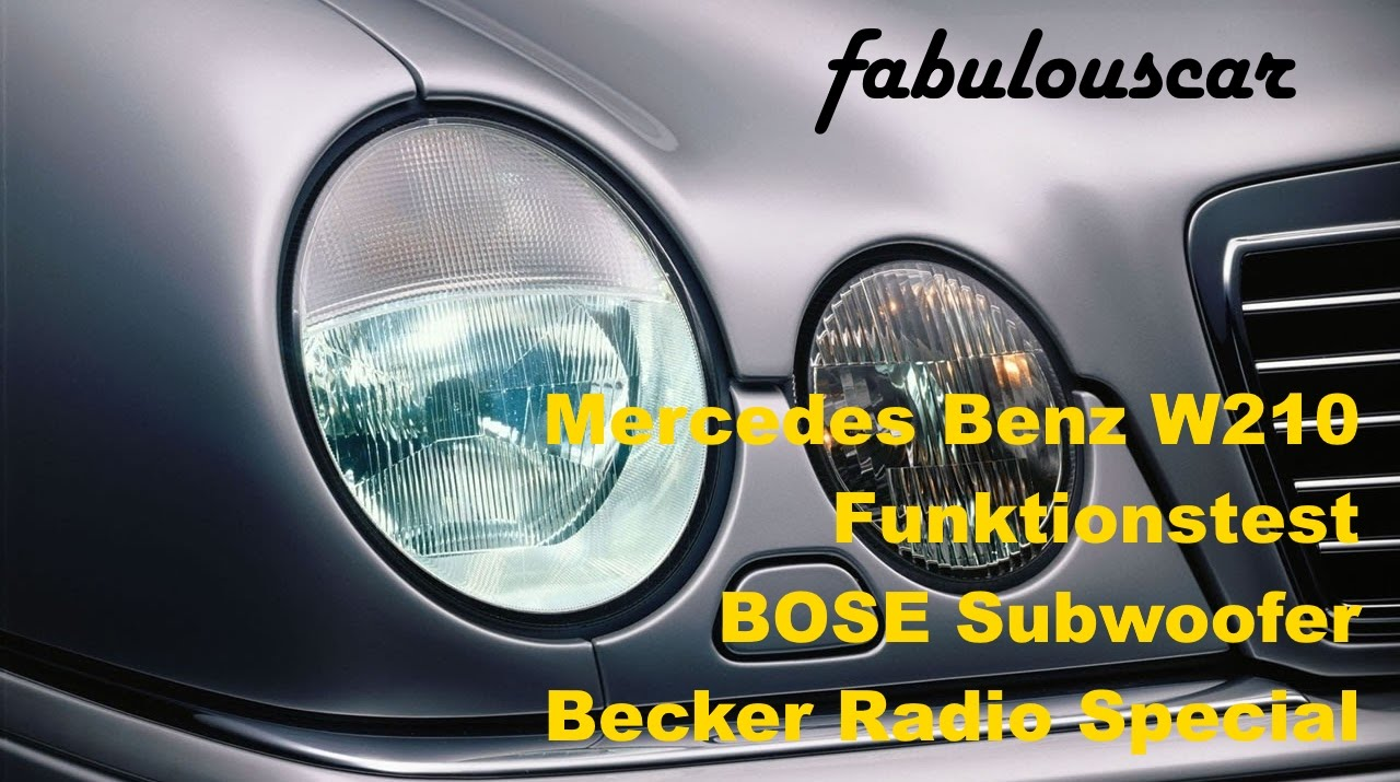 BOSE Subwoofer Becker Radio Special BE2210 | Mercedes Benz W210 E ...
