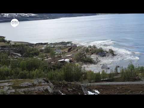 قرية في النرويج تنزلق مع منازلها في البحر  - نشر قبل 1 ساعة