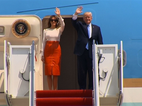Trump Departs on First Trip Overseas