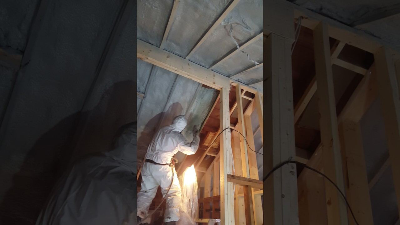 Vaulted ceiling, 2lb Closed Cell Spray foam insulation ...