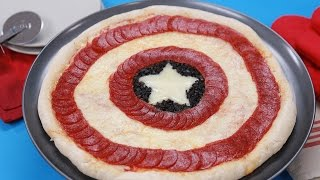 CAPTAIN AMERICA PIZZA - NERDY NUMMIES