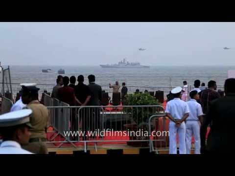 Navy helicopters approach their warships in Bay of Bengal