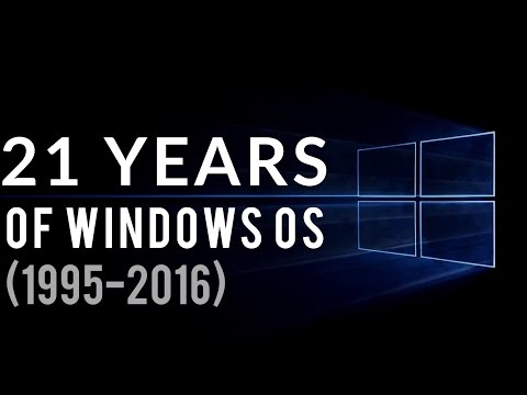 21 YEARS OF WINDOWS OS (1995-2016)