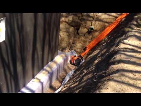 Fabulous Erstellen einer Drainage am Neubau - YouTube SS07
