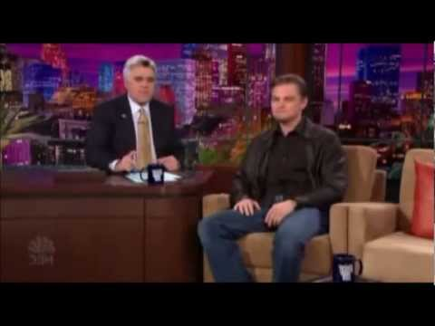 Leonardo DiCaprio on Jay Leno show 2004 part 1
