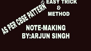 How to write note making (FORMAT)class11,12 tricks for attend note making easily