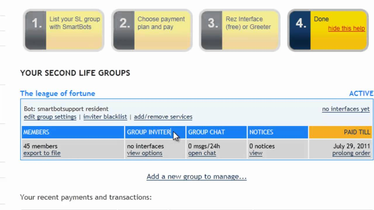 SmartBots how to: Set the Second Life greeter and change the group inviter  settings
