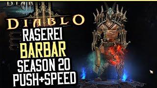 Diablo 3 - Raserei Barbar in Season 20  | Push+ Speedbuild | Patch 2.6.8