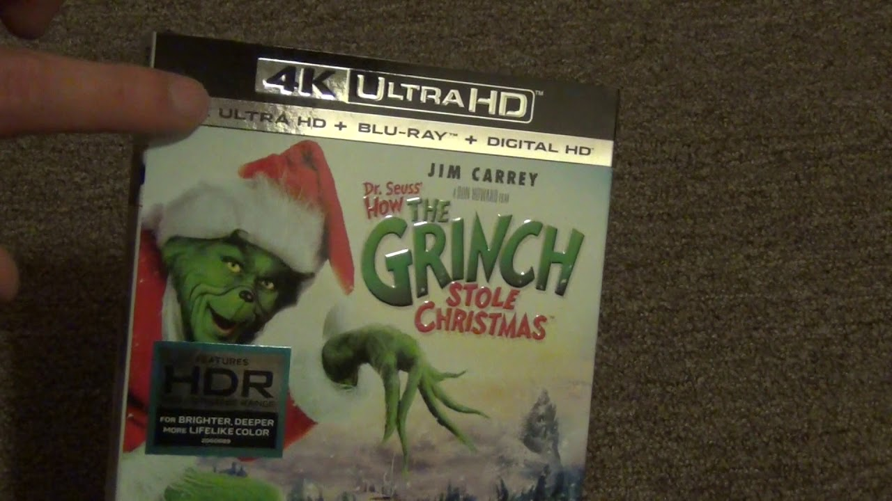 How The Grinch Stole Christmas Blu Ray.How The Grinch Stole Christmas 4k Ultra Hd Grinchmas Edition Blu Ray Grinchmas Edition Unboxing