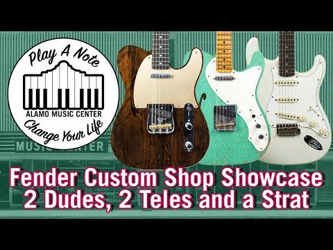 2018 Fender Custom Shop Showcase  Relic Stratocaster, Ziricote Telecaster, NAMM Limited Telecaster