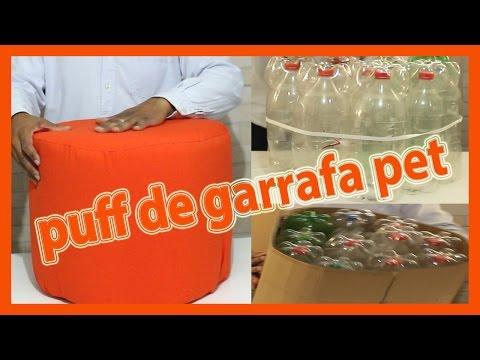 PUFE DE GARRAFA PET FÁCIL E RÁPIDO.