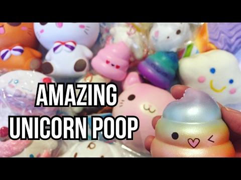Squishy Unicorn Poop : AMAZING UNICORN POOP HUGE INSTAGRAM SQUISHY HAUL - YouTube