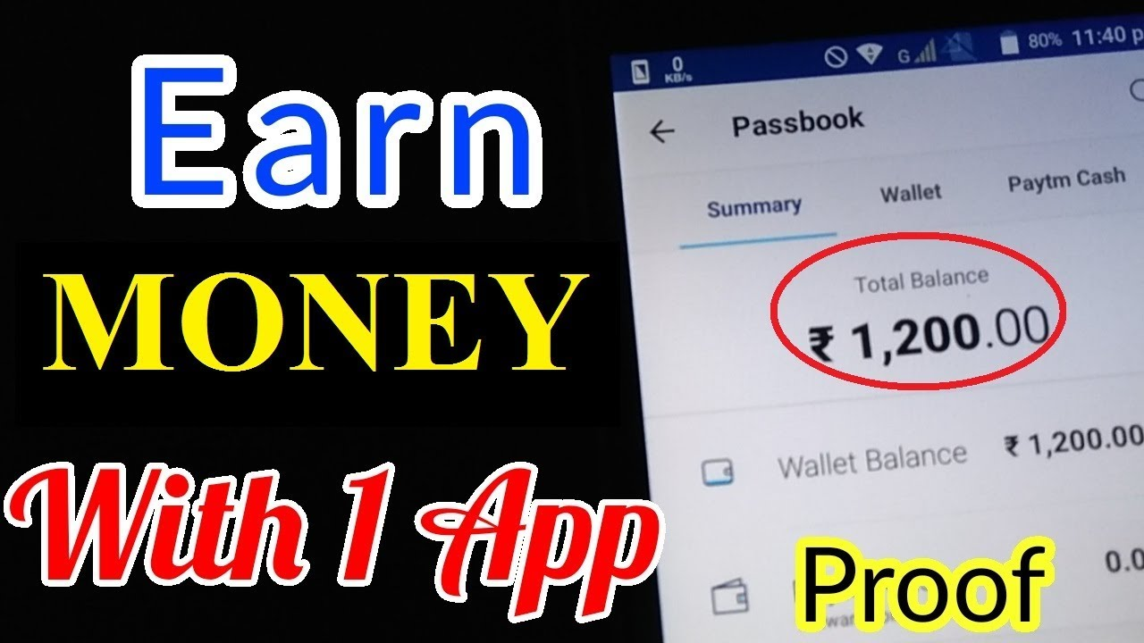 EARN money WITH PROOF FROM ONE APP | LATEST TRICKS