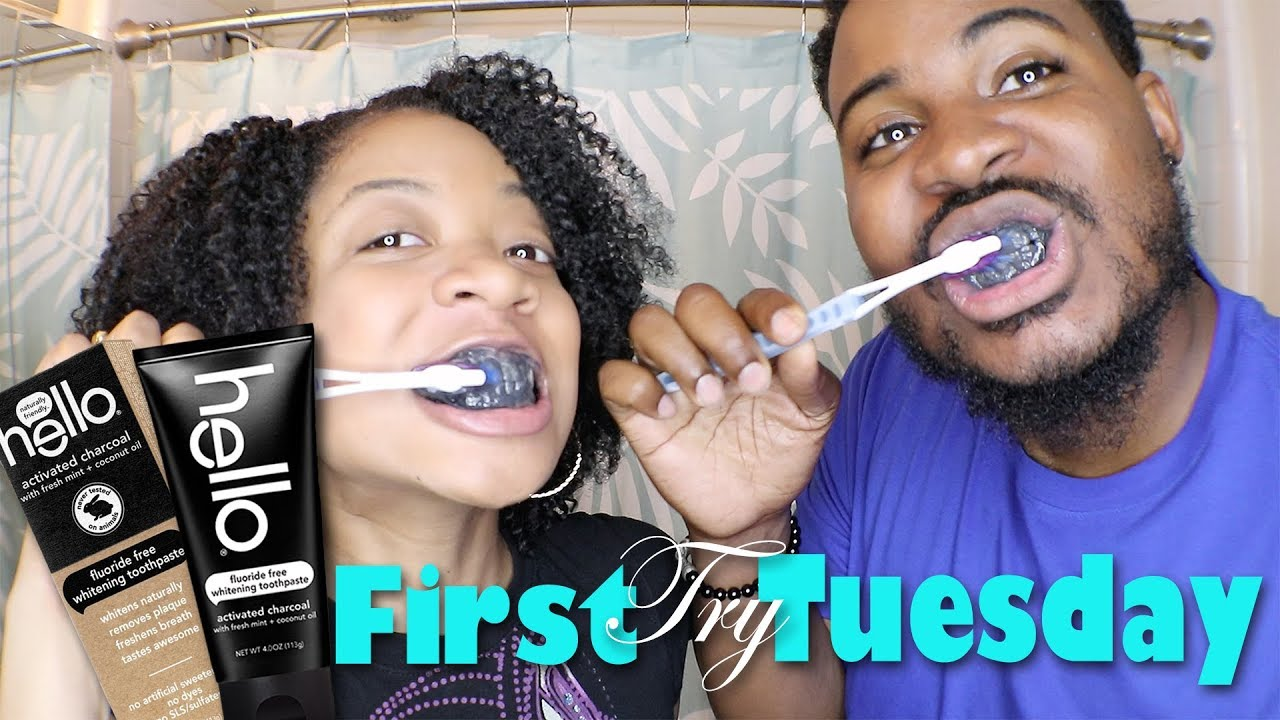 First Try Tuesday Hello Activated Charcoal Toothpaste Youtube