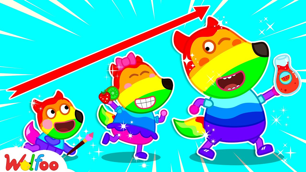 Wolfoo Learns Colors with Colorful Family- Wolfoo Has Fun Playtime with Color Songs | Wolfoo Channel