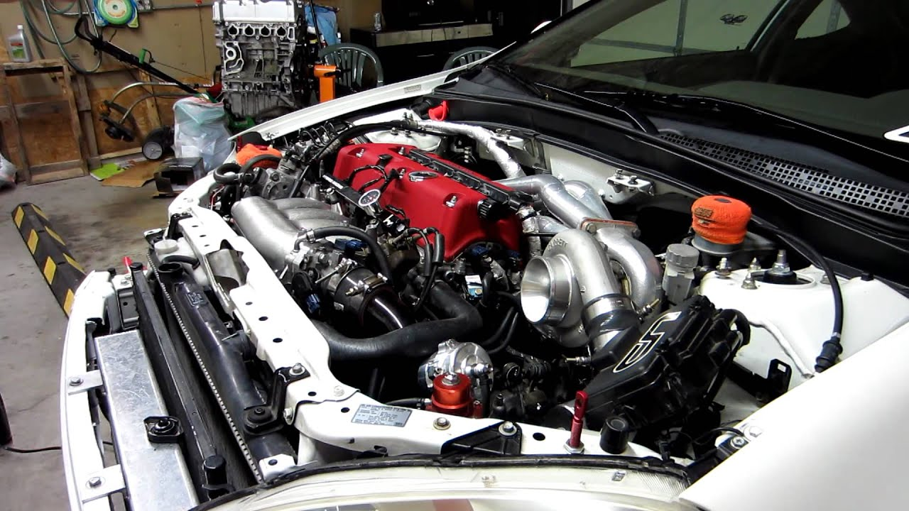 RSX Honda K20 engine build first startup - YouTube