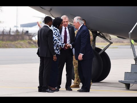 US Secretary of State Tillerson arrives in Kenya for visit