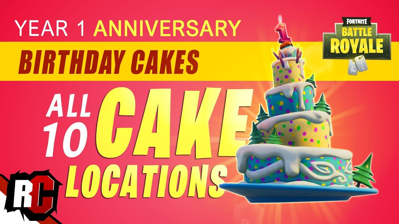 All BIRTHDAY CAKE Locations in Fortnite (Birthday ...
