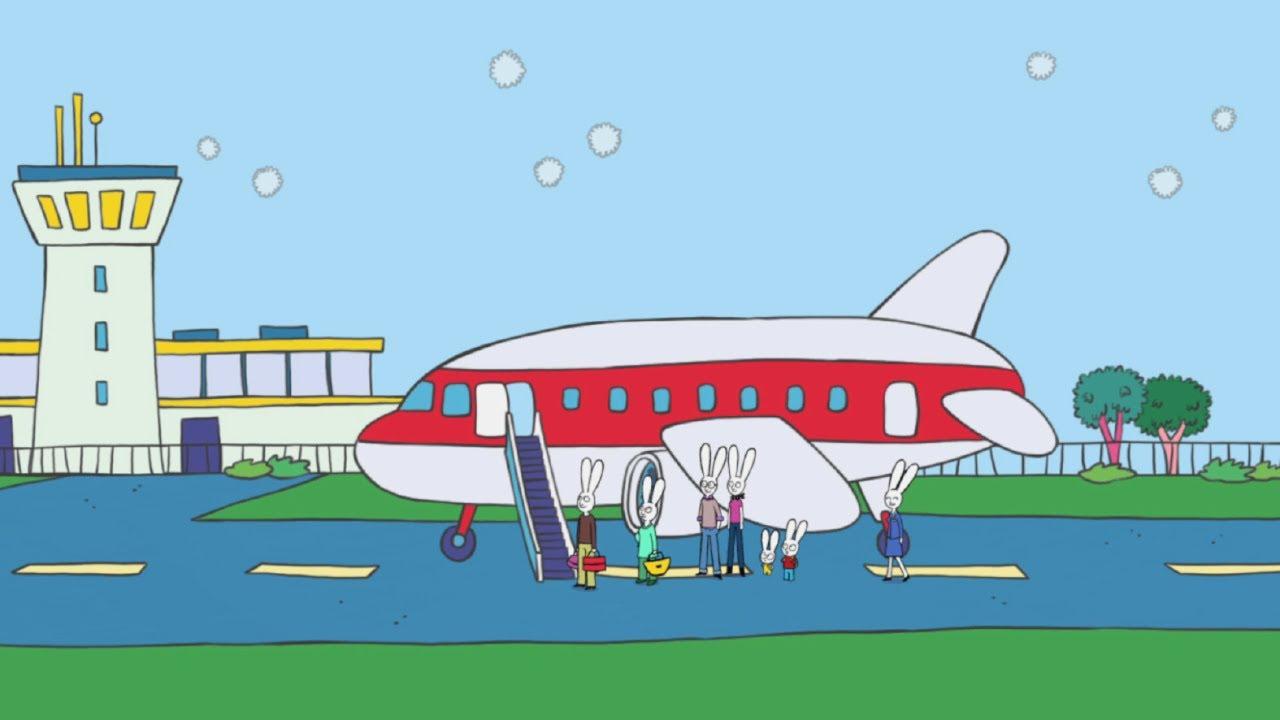 Simon extrait simon prend l 39 avion hd officiel dessin - Dessin facile avion ...