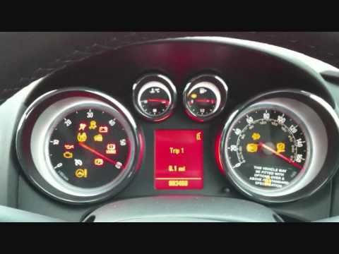 Vauxhall Astra 2010 Start Up Dashboard Sequence