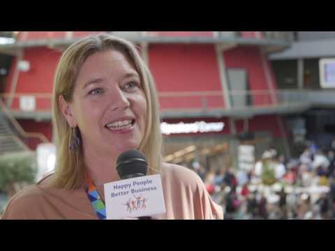 Interview Monika Hilm op Happy People - Better Business 2017