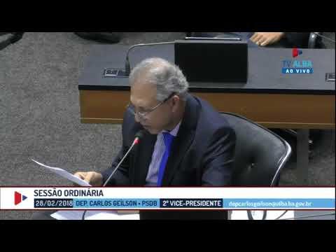 Deputado Carlos Geilson critica falta de segurança em Simões Filho