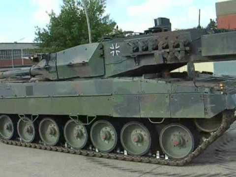 Leopard 2 Beim Bremstest