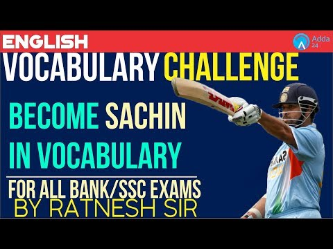 Master Blaster Vocabulary Challenge | Become Sachin In Vocabulary | Ratnesh Sir | 3 P.M