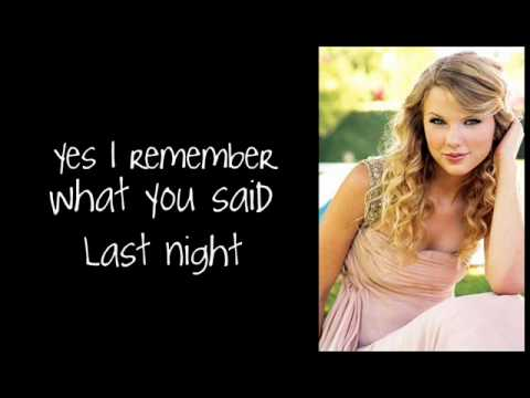 Tell Me Why by Taylor Swift Lyrics
